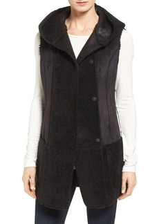 Jones New York Bonded Faux Shearling Vest