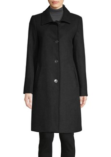 JONES NEW YORK Button-Front Wool-Blend Coat
