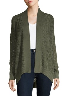 JONES NEW YORK Cable-Knit Cotton Cardigan