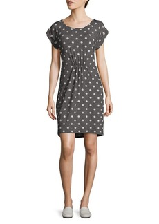JONES NEW YORK Cinched Waist Polka Dot Dress