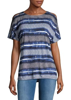 JONES NEW YORK Cold-Shoulder Dolman-Sleeve Top
