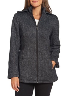 Jones New York Collection Seamed Cotton-Blend Hooded Jacket