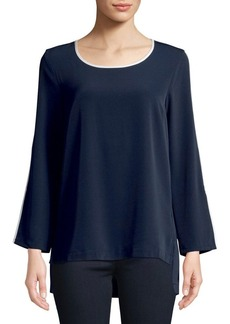 JONES NEW YORK Contrast Bind Pop Top