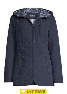 JONES NEW YORK Cotton-Blend Hooded Jacket