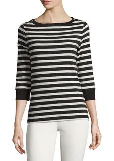 JONES NEW YORK Cotton Three-Quarter Sleeve Pullover