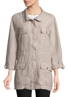 JONES NEW YORK Crossdye Linen Jacket