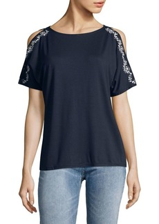 JONES NEW YORK Dolman-Sleeve Cold-Shoulder Top