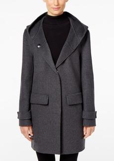 Jones New York Double-Faced Hooded Wool Walker Coat