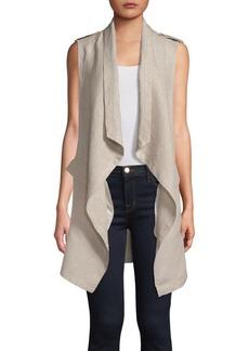 JONES NEW YORK Draped Linen Vest