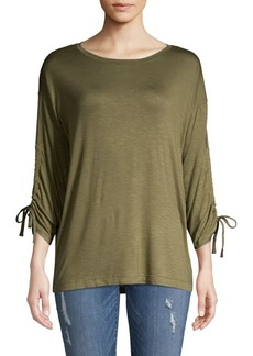 JONES NEW YORK Drawstring-Sleeve Top