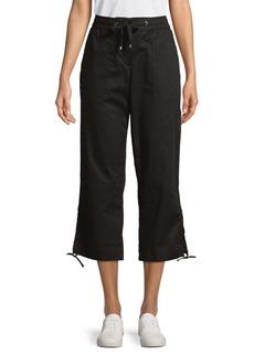 JONES NEW YORK Drawstring Tied-Hem Crop Pants