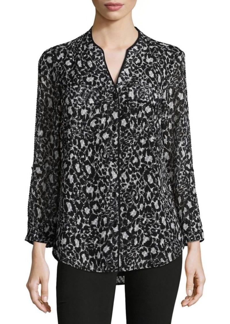 6ec57c84 SALE! Jones New York JONES NEW YORK Exotic Print Button-Down Shirt