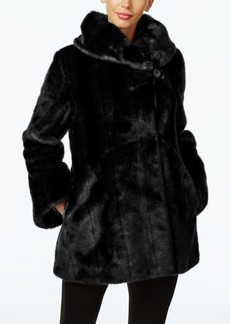 Jones New York Faux-Fur Asymmetrical Coat