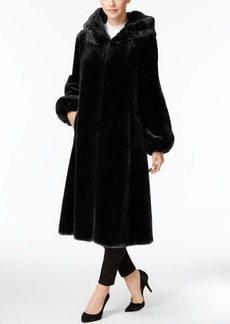 Jones New York Faux-Fur Hooded Maxi Coat