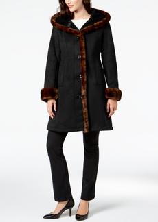 Jones New York Faux-Fur-Trim Coat