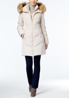 Jones New York Faux-Fur-Trim Hooded Down Puffer Coat