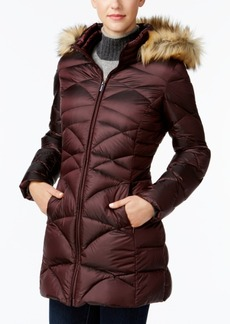 Jones New York Faux-Fur-Trim Quilted Down Puffer Coat