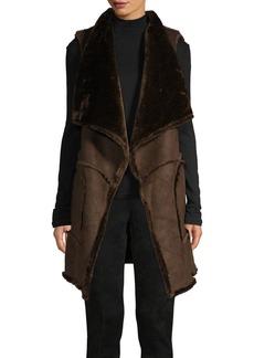 JONES NEW YORK Faux Shearling-Trim Long Vest