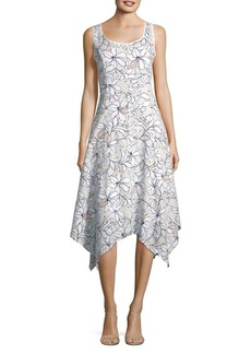 JONES NEW YORK Floral Asymmetrical Dress
