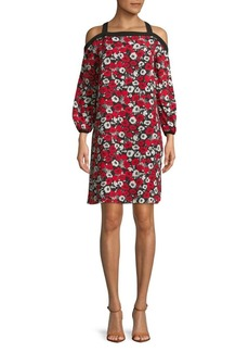 JONES NEW YORK Floral Cold-Shoulder Dress