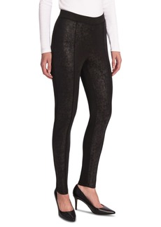 Jones New York Foiled Ponte-Knit Leggings