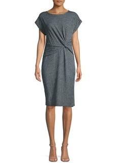 JONES NEW YORK Front Twist T-Shirt Dress