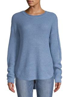 JONES NEW YORK High-Low Waffle-Knit Sweater