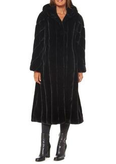 JONES NEW YORK Hooded Faux Fur-Trim Coat
