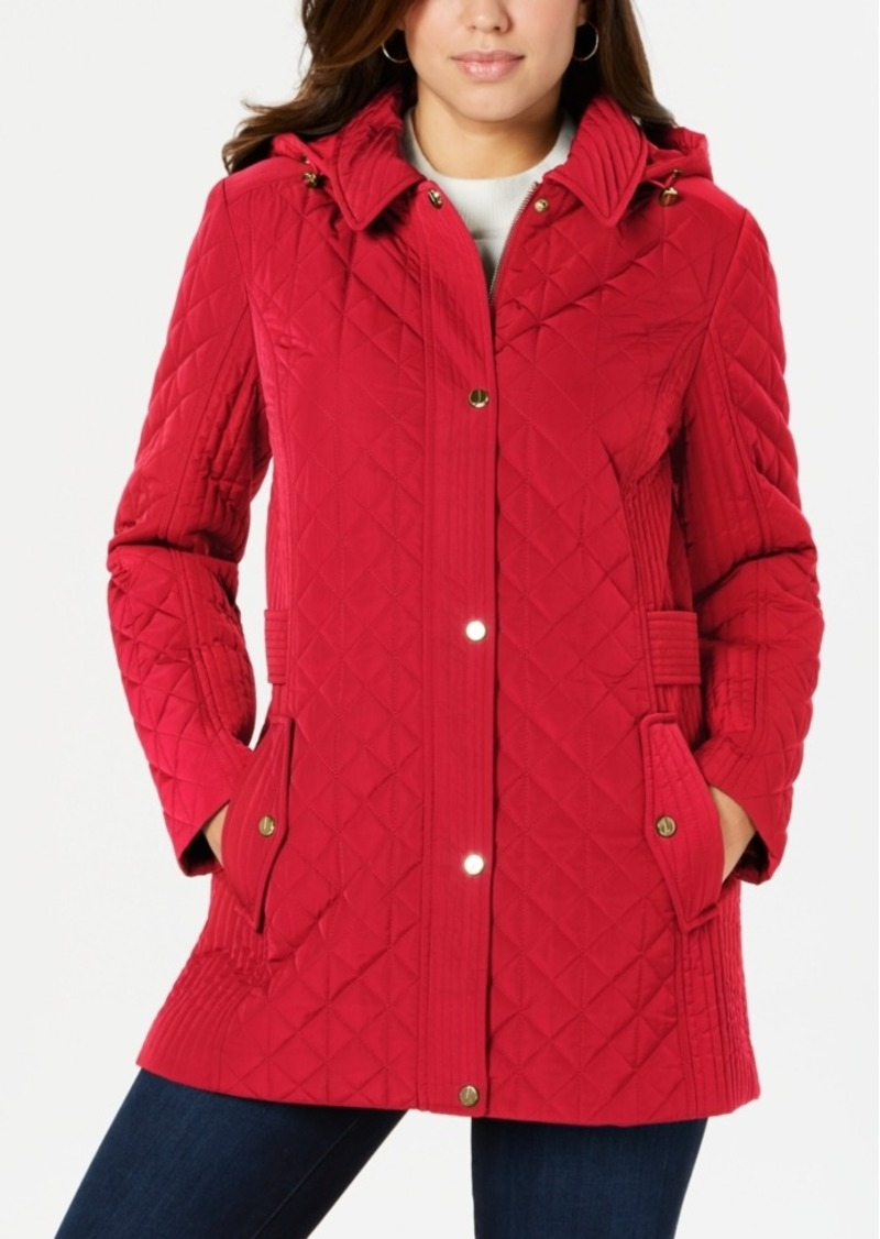 Jones New York Hooded Quilted Jacket