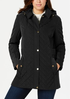 Jones New York Hooded Quilted Jacket