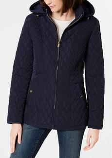 Jones New York Hooded Quilted Puffer Coat