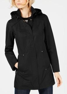 Jones New York Hooded Snap-Button Raincoat