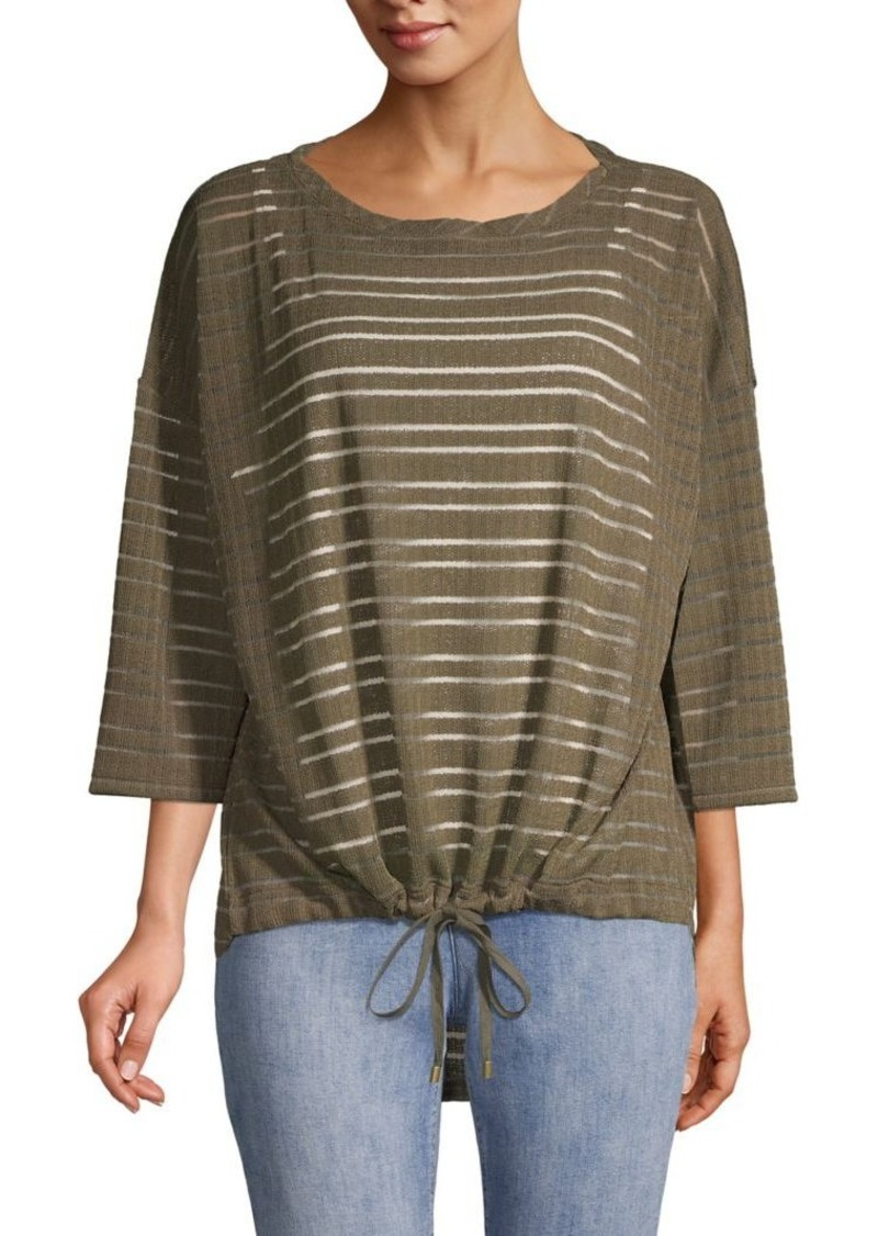 JONES NEW YORK Illusion-Stitch Tie-Hem Top
