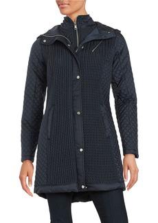 JONES NEW YORK Jones Hooded Quilted Coat