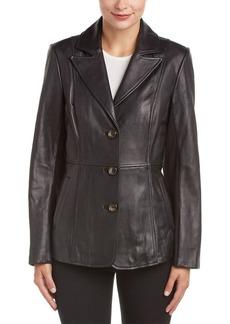 Jones New York Jones New York Leather Blazer
