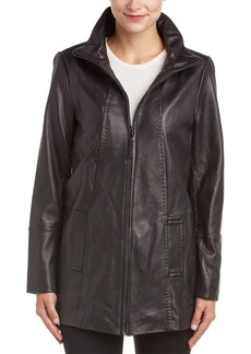 Jones New York Jones New York Long Leather Jacket