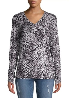 JONES NEW YORK Leopard Print Top