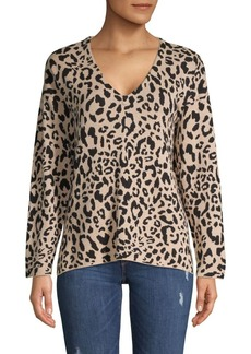 JONES NEW YORK Leopard-Print V-Neck Knit Tunic