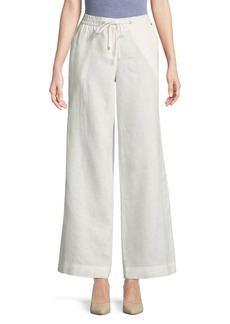 JONES NEW YORK Linen Wide Leg Pants