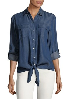 JONES NEW YORK Long-Sleeve Denim Button-Down Shirt