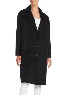 JONES NEW YORK Long Sleeve Textured Coat