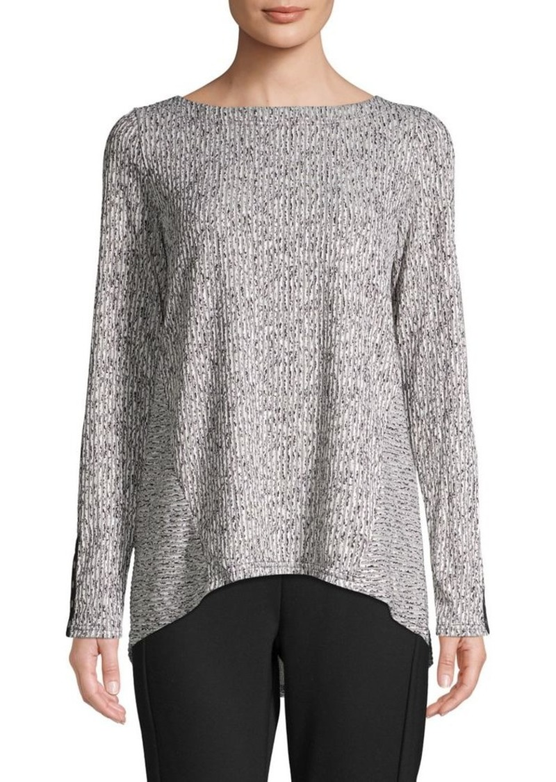 JONES NEW YORK Long-Sleeve Textured Sweater