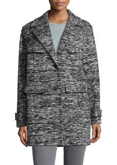 JONES NEW YORK Marled Notch Collar Jacket