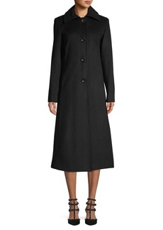 JONES NEW YORK Maxi Wool-Blend Coat