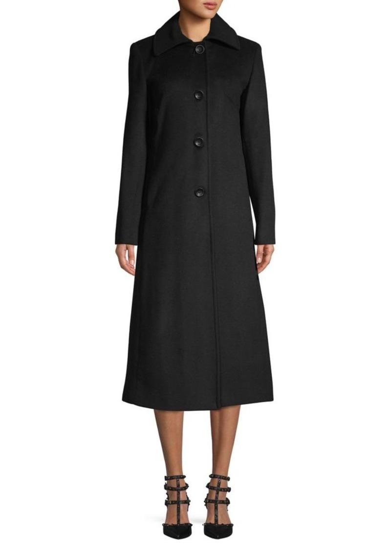 JONES NEW YORK Maxi Wool-Blend Coat