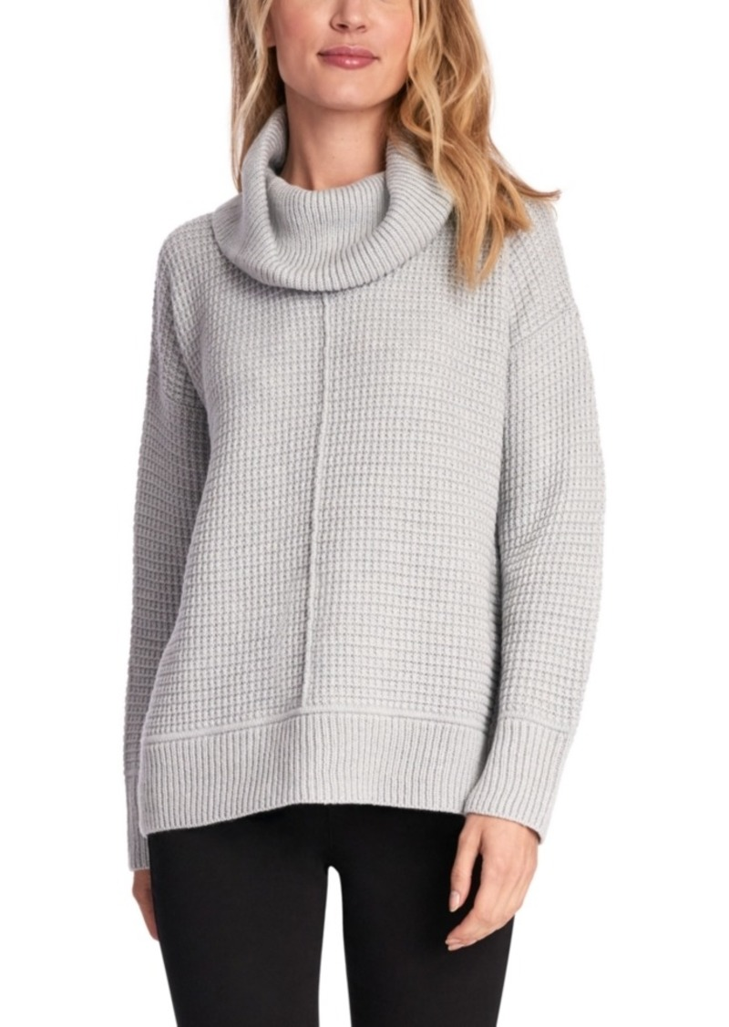 Jones New York Mixed-Stitch Cowlneck Sweater