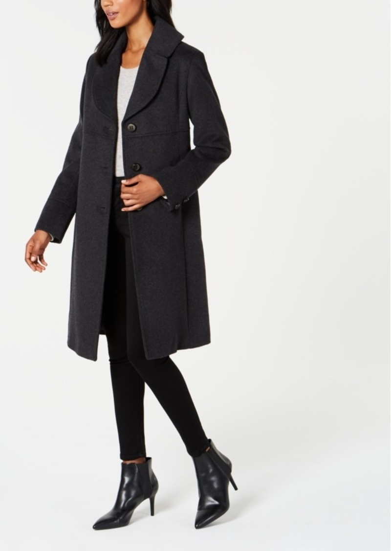 Jones New York Notch-Collar Walker Coat