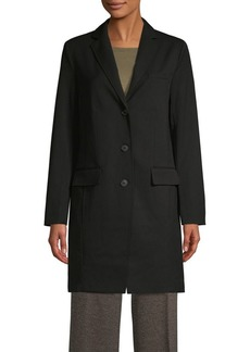 JONES NEW YORK Notch Lapel Topper Coat