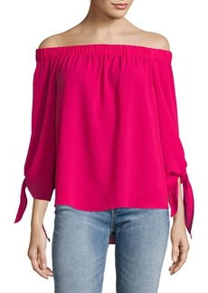 JONES NEW YORK Off-Shoulder Tied-Sleeve Top