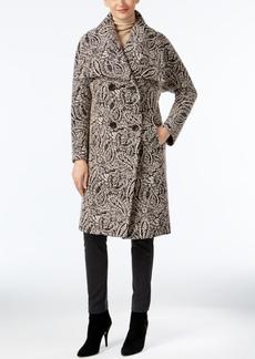 Jones New York Paisley-Print Walker Coat